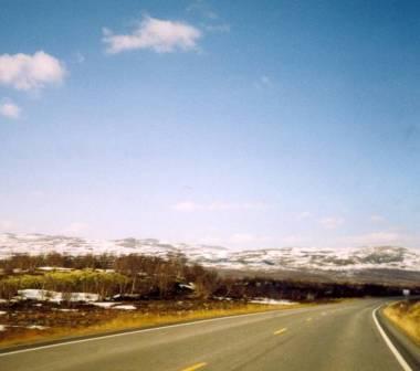La routa E6 y la tundra